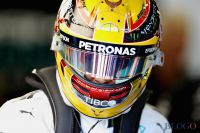 Lewis Hamilton: le début d'une piste, puis... le vol