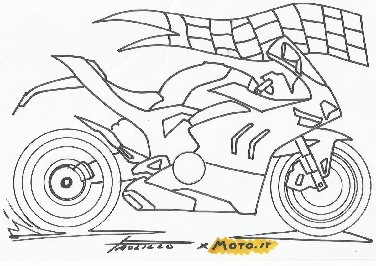 #coloralapassione - Le mouvement de l'impression et de la couleur: Ducati Panigale V4