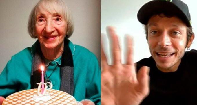 Valentino Rossi et l'appel à la Nonna Lina, 102enne guéri de Coronavirus