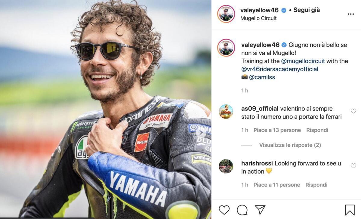 MotoGP. Valentino Rossi: juin n'est pas bien si vous n'allez pas à Mugello