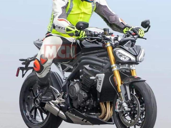 SPIED: 2021 Triumph Speed Triple Spotted: May Get a Bigger