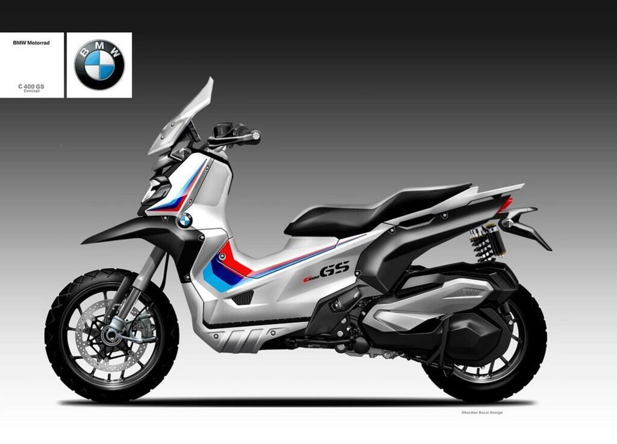 BMW C400 GS Concept par Oberdan Bezzi: le X-ADV à la bavière