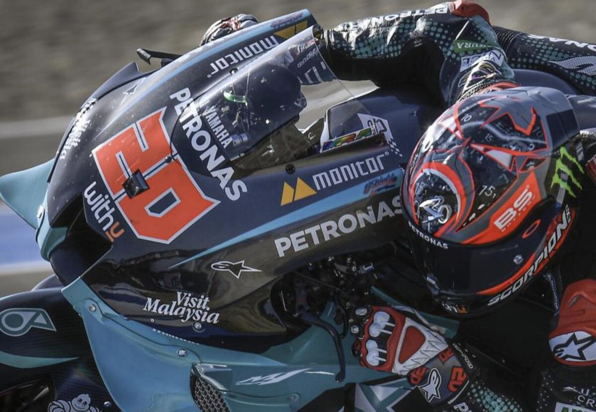 MotoGP à Jerez. La première, la victoire historique de la Quartararo. Appréhension de la poignet de Marc Marquez