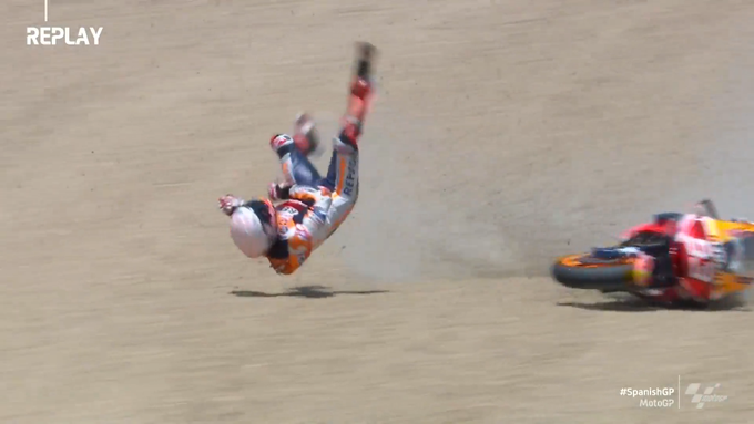 MotoGp Jerez: effrayant crash pour Marquez
