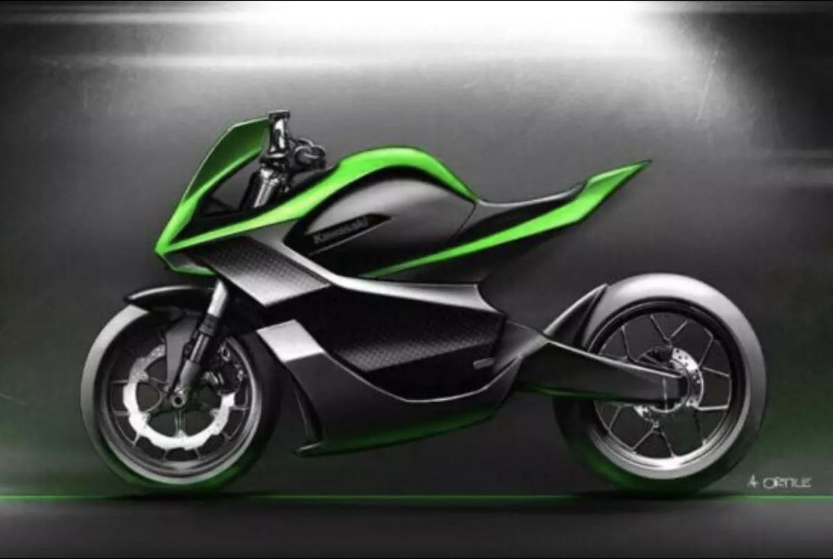 Kawasaki travailler sur un quatre-cylindres 2-temps, turbo