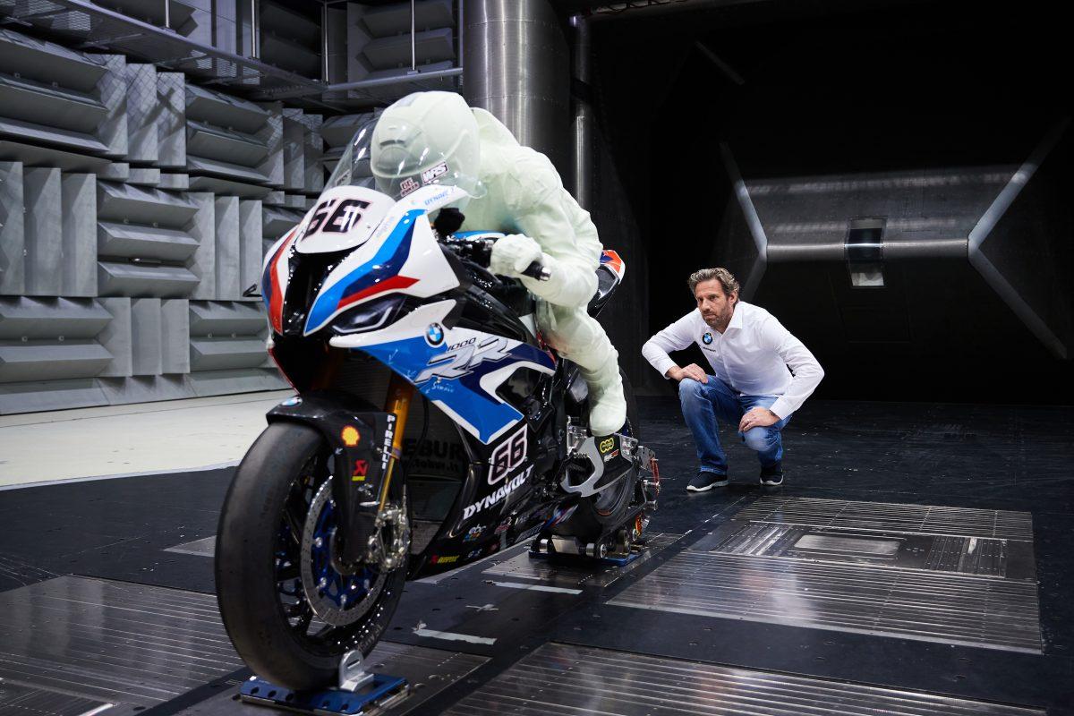 BMW S1000RR: dans le tunnel de vent avec le modèle 3D de Eugene Laverty