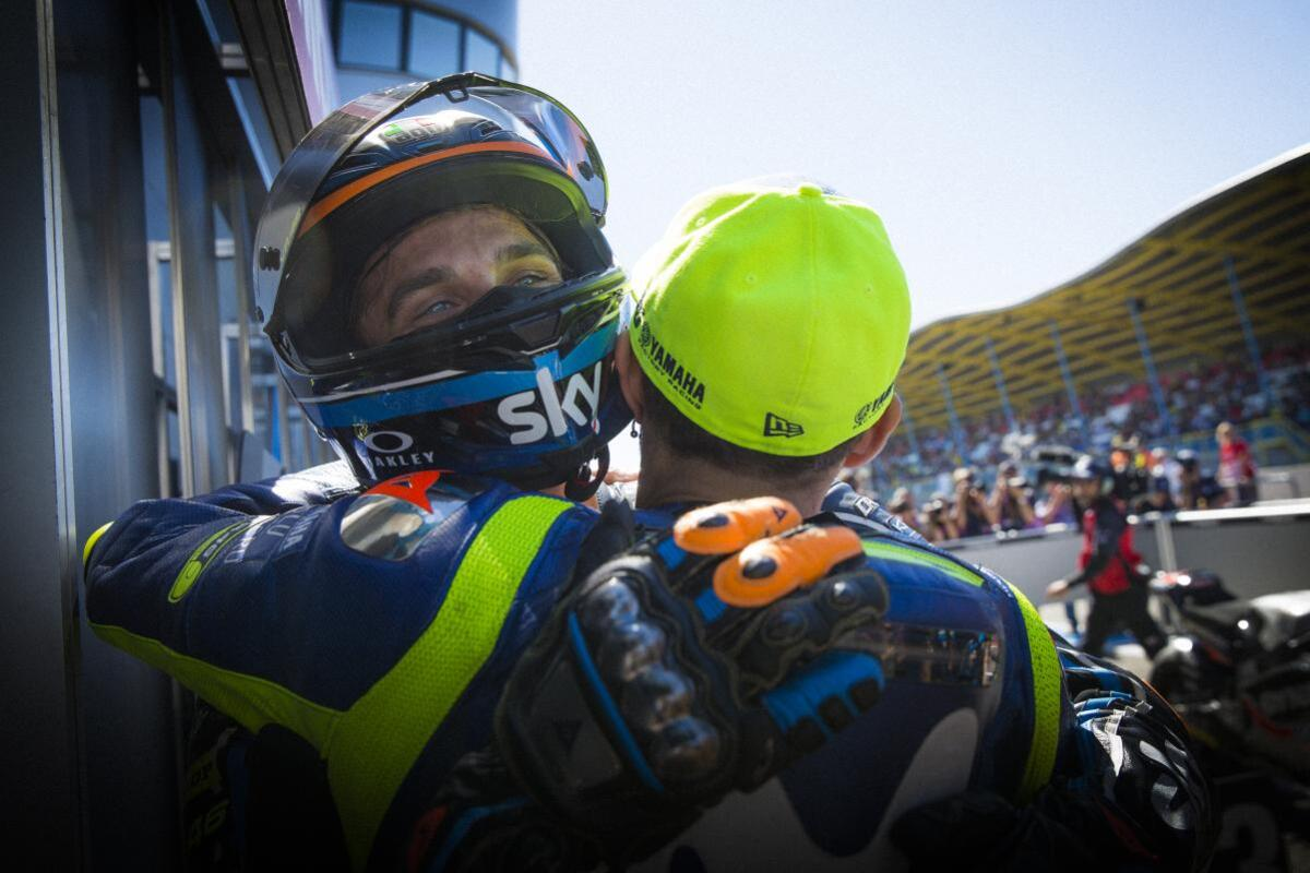 MotoGP 2020. GP Andalousie, Valentino Rossi interview de Luca Marini... Et vice versa!