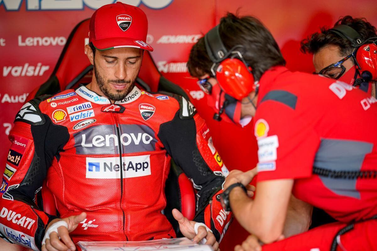 """MotoGP 2020. Dovizioso: """"des Problèmes inattendus lors de l'avant"""""""