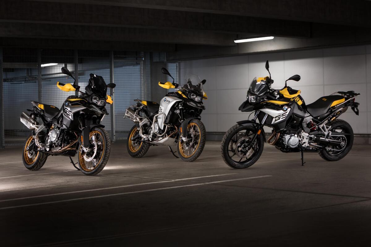 BMW F750GS, F850GS et F850 GS Adventure 2021. La plupart livrée Anniversaire 40