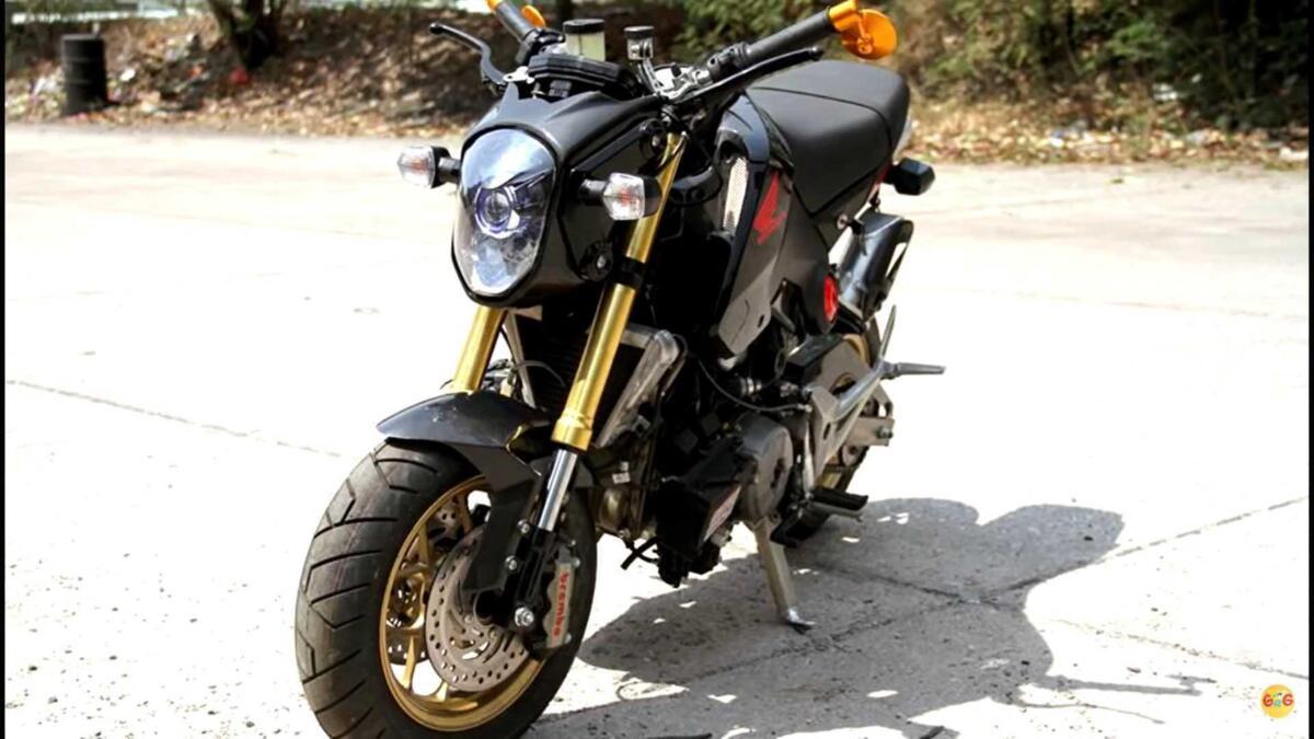 Le Honda MSX pompé avec le moteur de la Panigale. Fort, mais...