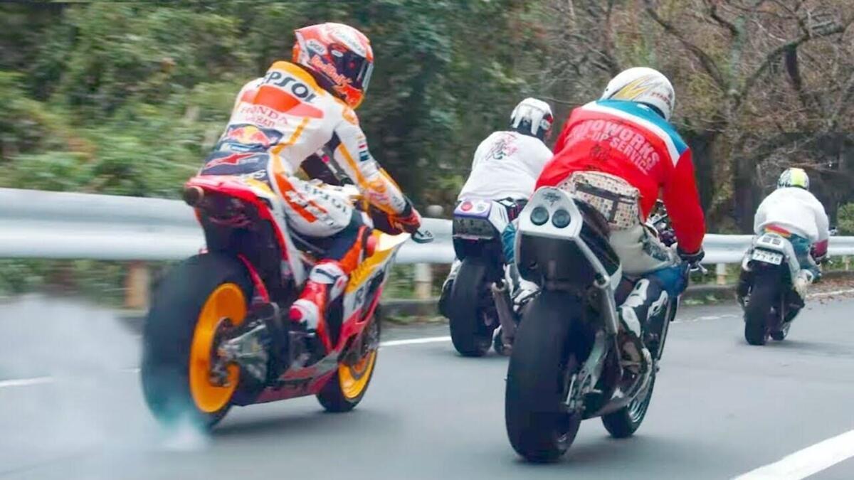 Lorsque Marc Marquez a couru en mouvement dans les rues, japonais [VIDEO VIRALE]