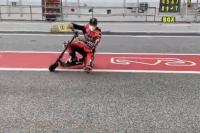 Scott Redding: genou sur l'asphalte, même sur un scooter [Video]