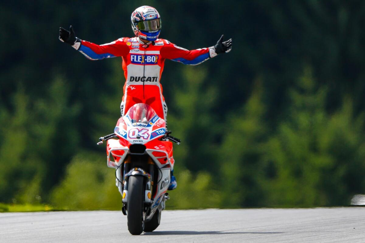 MotoGP paris pour le bookmaker Andrea Dovizioso favori pour le GP d'Autriche, mais pas pour le Monde